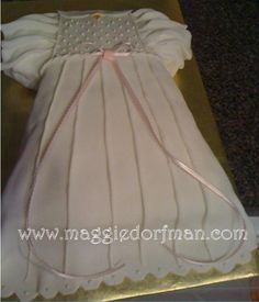 Baby Girl Dedication Cakes | Baptism Dress Cake « Cakes by Maggie