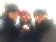 Io e le Elene in rettorato in un giorno di neve in febbraio