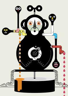 scimmia chimica de flaccy