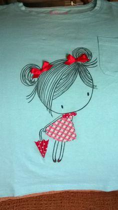 camiseta customizada niña