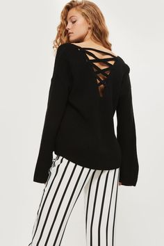 Lattice Back Knitted Jumper | Topshop