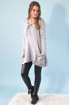 Anne Elise Lace Up Tunic-[product_description]-[product_tag]-Stella B. Clothing