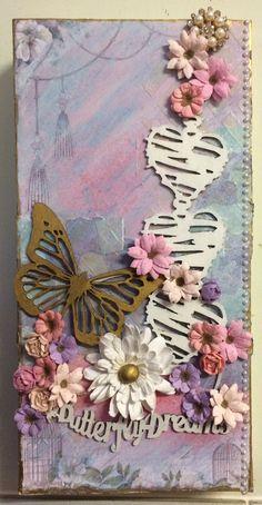 Toni Herron..... Scrap Crazy: Butterfly Dreams Canvas