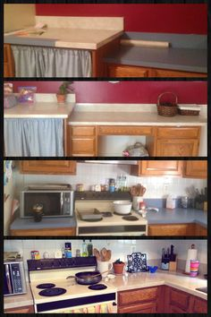 cover ugly countertops with contact paper make sure counters are clean and dry measure black contact paper project