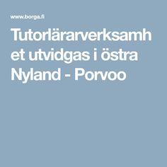 Tutorlärarverksamhet utvidgas i östra Nyland - Porvoo Education, Velvet, Onderwijs, Learning