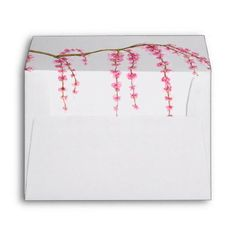 Cherry Blossoms A7 Envelope - personalize gift idea special custom diy or cyo