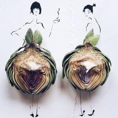חסה קוטור: המעצבת שהופכת אוכל לאופנה