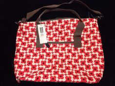 47a93e0966e5 Orla Kiely Abacus Flower Overnight Bag Poppy Cars Red White New Tote Luggage