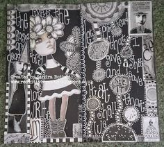 Image result for dylusions black journal