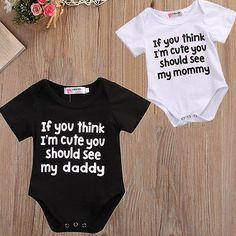 Maluch List Kombinezon Moda Baby Boy Biały Body Cute Dziewczynka Słowa Ubrania Dziecięce Lato Wydrukuj Stroje