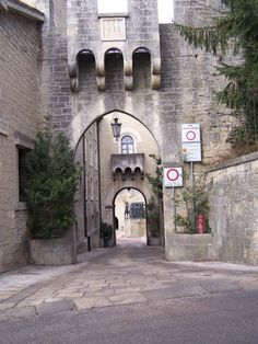 City Gate into Walled San Marino