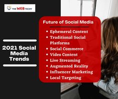 Social Media Trends for 2021 and even beyond Ephemeral Content Traditional Social Platforms Social Commerce Video Content Live Streaming Augmented Reality Influencer Marketing Local Targeting Catch these trends and stay ahead of your competitors. Social Media Trends, Best Web Design, Influencer Marketing, Augmented Reality, Design Development, Social Platform, Platforms, Digital Marketing, Hacks