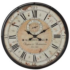 Woodland Imports Romanian Styled Antique Wall Clock 26x26