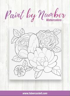 Let your creativity take the lead by watercolor painting a floral design with Paint by Number Watercolor Bold Floral by Faber-Castell. Creating your own artwork is easy and fun with the included paint by number guide to guide paint by number beginners create a flower painting they will be proud to show off! Everything you need to create your own art is included! Adult paint by number kits are a relaxing, creative activity that makes the perfect paint night activity to enjoy at home. Watercolor Projects, Watercolor Canvas, Watercolor Pencils, Watercolour Painting, Watercolors, Creative Activities, Creative Crafts, Paint By Number Kits, Faber Castell