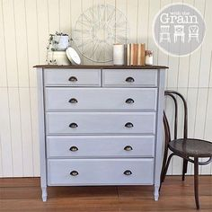 SOLD -- Another #tallboy done and dusted this week. This ones in Paris Grey and I used my home made stain to age the top. {$325} local pick up #Brisbane #qld #queensland #anniesloanchalkpaint #womenwhodiy #vintagefurniture #restoredfurniture #paintedfurniture #vintage #vintagestyle #interiors #bentwood #furniturerestoration