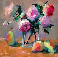Francesca's Roses by Trisha Adams Oil ~ 12 x 12