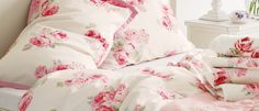 Couture Rose Cotton Duvet Cover at Laura Ashley
