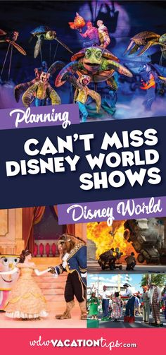 Disney World is well-known for its legendary food and of course everyone's favorite mouse. But it is important not to overlook their original shows. They are some of the most impressive live performances you will see in your lifetime. When we go to Disney World this is our list of can't miss Disney World shows.