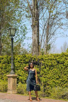 Satin green slip dress, a summer outfit staple. #summerdress #slipdress #blackgirl #blackgirlmagic Winter Outfits, Summer Outfits, Summer Dresses, Clothing Staples, Black Girl Magic, Work Wear, Outfit Ideas, Satin, Seasons
