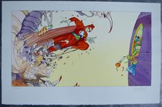 Moebius - Pochoir - Editions L' Autre Monde - Starwatcher - W.B.