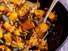 After carving your pumpkins this Halloween, save the insides to make this Pearl Couscous with Roasted Pumpkin and Medjool Dates.