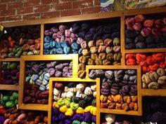 Look at all that beautiful yarn at Colors 91711!