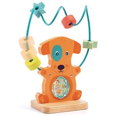 An adorable and sweet Djeco Rattle Chokko - Early Years distributed by Kaleidoscope. Learning Tools, Early Learning, Young Baby, Wooden Shapes, Activity Toys, Newborn Baby Gifts, Tummy Time, Designer Toys, Teaching Kids