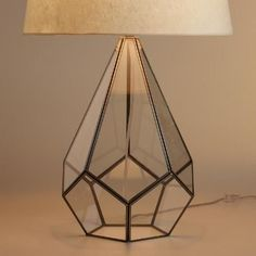 One of my favorite discoveries at WorldMarket.com: Glass Terrarium Table Lamp Base