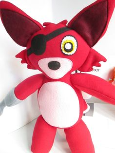 Foxy Plush Inspired by Five Nights At Freddy's by FabroCreations