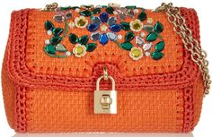 dolce and gabbana crystal embellished raffia shoulder bag