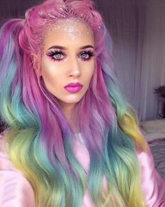 Best representation descriptions: Halloween Unicorn Makeup Idea Related searches: Unicorn Face Makeup,Unicorn Costume Makeup Ideas,Pastel U. Looks Halloween, Halloween 2017, Halloween Ideas, Halloween Party, Hair Styles For Halloween, Halloween Stuff, Makeup For Halloween, Halloween Costumes Women Creative, Unicorn Halloween Costume
