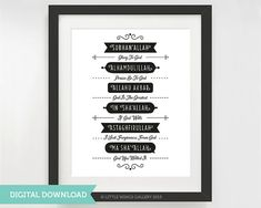 Digital Download Islamic Phrases POP PRINT by LittleWingsGallery