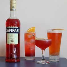 3 #Campari Cocktails that go Beyond a Basic Negroni  #FWx. I'm trying to find a way to drink Campari so I can get rid of this bottle I bought. But really, this stuff is nasty.