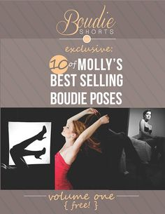 Want to shoot poses that SELL?    Molly reveals 10 of her best selling boudoir poses and details about how to nail each one. Molly goes into detail about each pose, how to gets the look, how she interacts with her clients and even where to find the props used in her photos.  If you want to be able to pose your clients naturally, know how to flatter them and capture images that sell every time, this guide is for you.