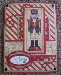 Toy Soldier Christmas Card - Graphic 45 - Nutcracker Sweet. $3.25, via Etsy.