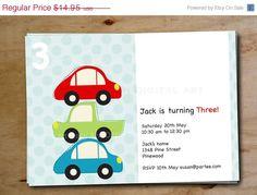 Car printable birthday invitations