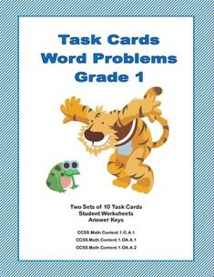 If you're looking for practice in word problems, this is the product for you. This collection has 2 sets of task cards-10 in each set. They will make your students think as they solve problems involving adding, subtracting, shapes, money, time, and just plain thinking..