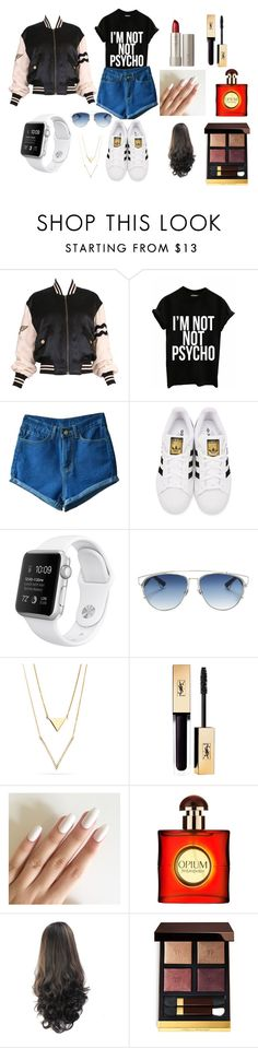 """""""street's fashion"""" by lea-bdlt on Polyvore featuring mode, Moschino, adidas Originals, Christian Dior, Ilia, Yves Saint Laurent et Tom Ford"""