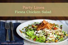 Party Lines Fiesta Chicken Salad Fiesta Chicken, Chicken Salad, Cobb Salad, Cooking, Easy, Food, Baking Center, Koken, Meals