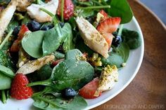 Pistachio Chicken Spinach Salad | Design, Dining + Diapers | Bloglovin'
