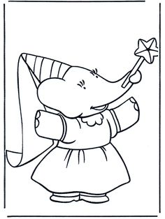 Babar Coloring Page