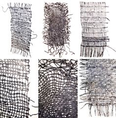 electrical wire--metal? Sue Lawty Lead sample by tapestry artist Sue Lawty, developing woven tapestry forms into other media