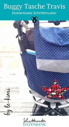 Buggytasche Kinderwagen Tasche Freebook kostenlos Schnittmuster free Now . Sewing Patterns Free, Free Sewing, Sewing Tutorials, Fabric Crafts, Sewing Crafts, Sewing Projects, Crafts To Sell, Crafts For Kids, Halloween Taschen