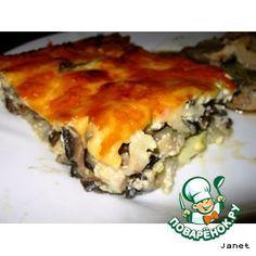 Запеканка картофельная с грибами, яйцами и сыром