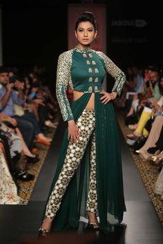 Model-actress Gauhar Khan in Sonam & Paras Modi. [Courtesy Photo]
