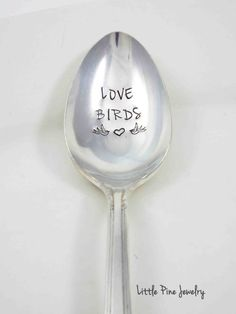 hand stamped spoons by Little Pine Jewelry