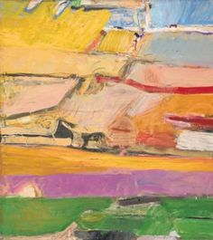Richard Diebenkorn Berkeley No. 52, 1955 hanging in President & Mrs. Obama's White House living quarters.