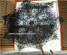 """Lace-Parasols: """"Violetta"""" Battenburg lace parasol"""