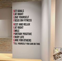 Set goals  You can do this. Wall Fitness by DesignDivilFitness