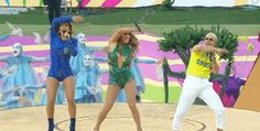 Allwave,15. J Lo, Pitbull and Claudia Leitte's choreographer made them wave their hands in the air like they just didn't care.